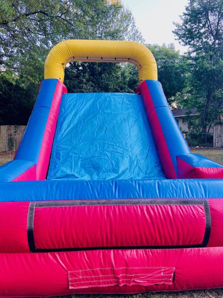 back yard water slide