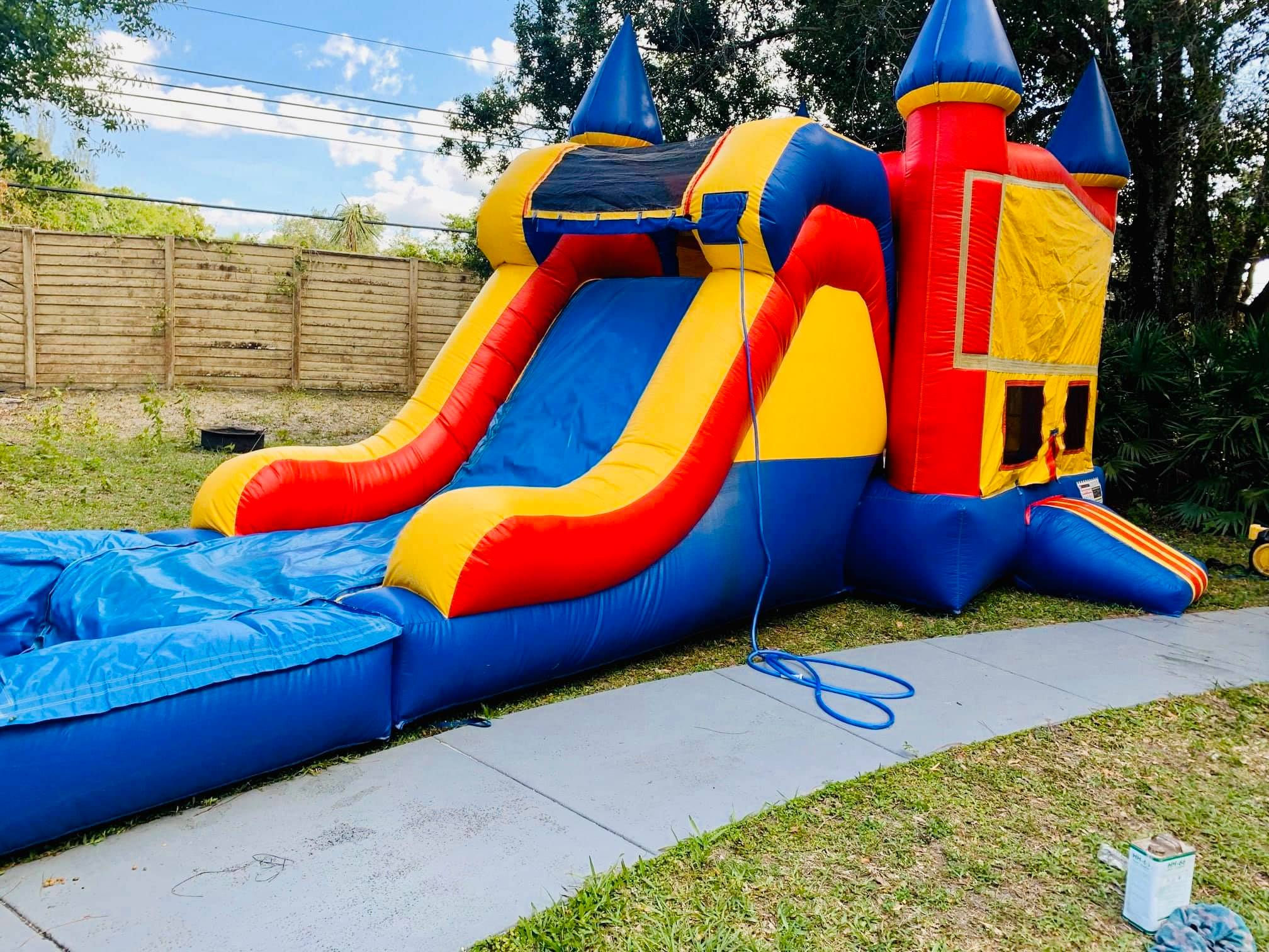 Castle Bounce House and Slide combination